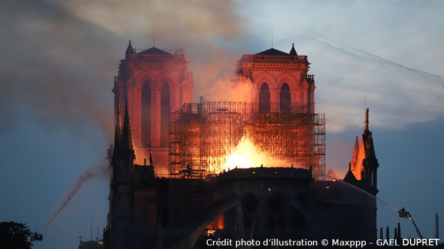Feu Notre Dame de Paris